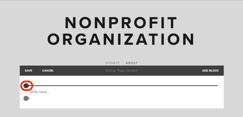 squarespace recurring donation