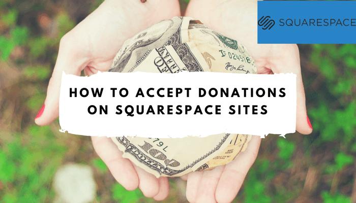 squarespace donations button