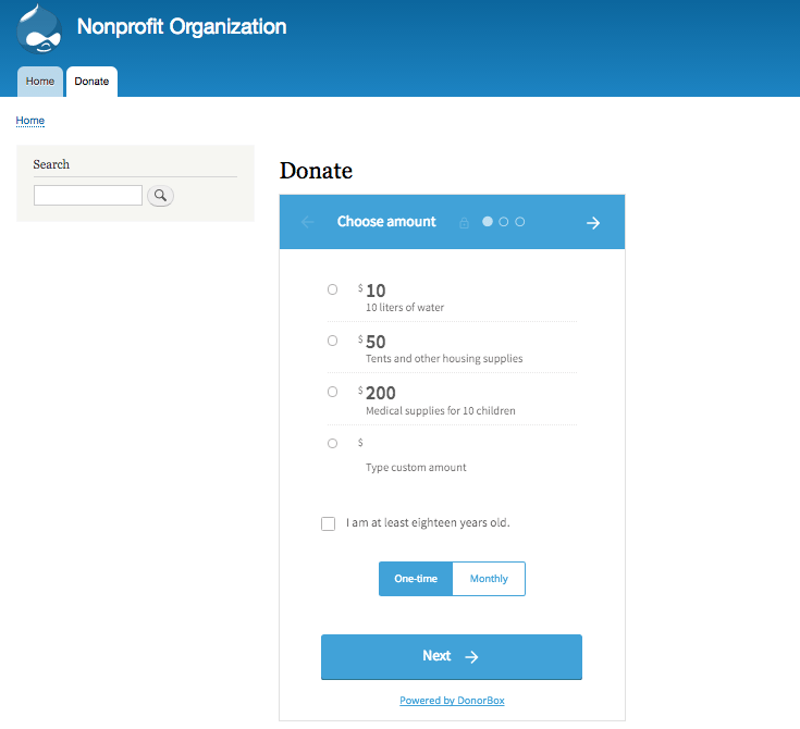How to Embed a Recurring Donation Form in Drupal 8 | Nonprofit Blog
