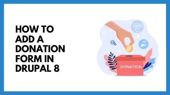 drupal 8 donations