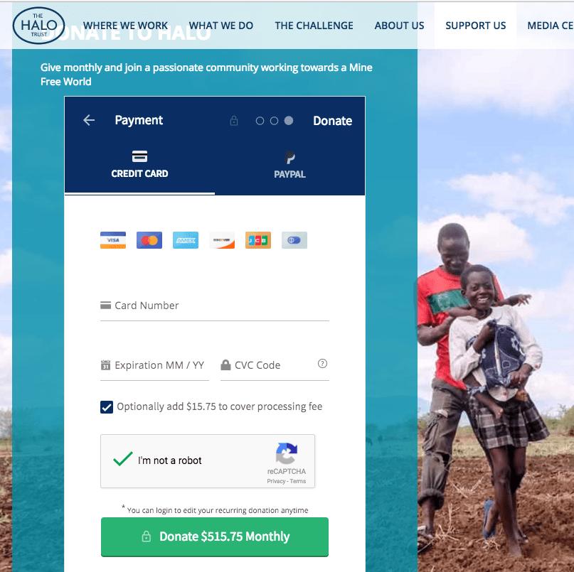 Donation Form Using WordPress Plugin