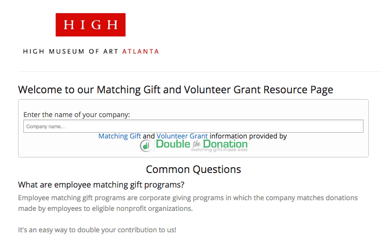 matching gits donation forms