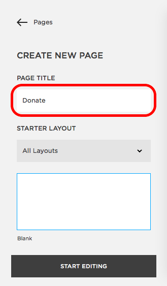 Installing Modal Popup Donation Forms on Squarespace - Donorbox