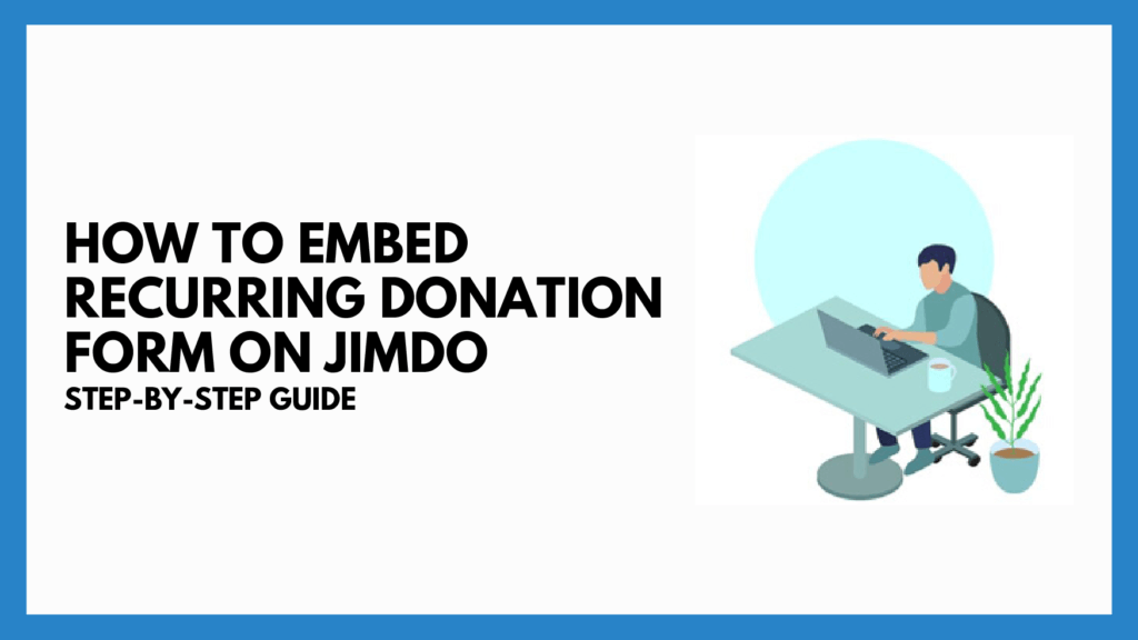 donation form on Jimdo