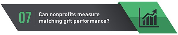 How can nonprofits measure matching gift performance?