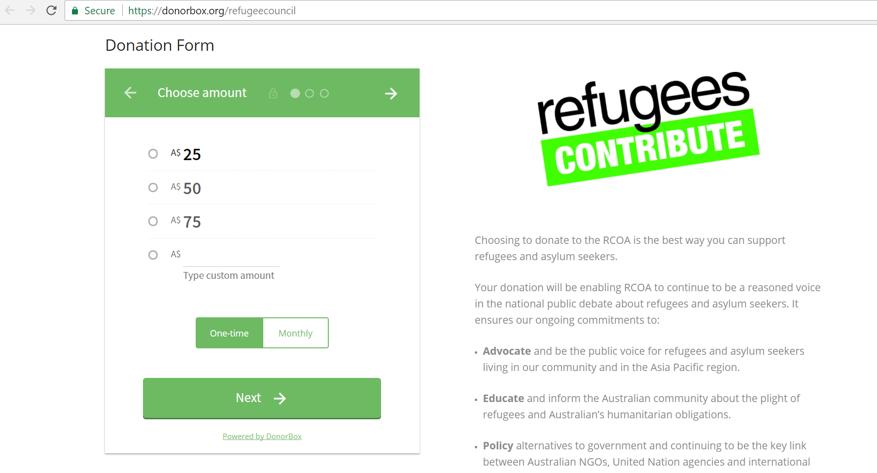 add recurring donation forms to sitebuilder com websites