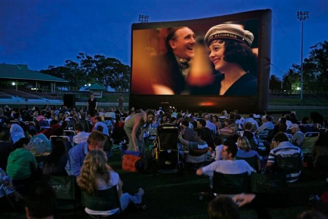 outdoor movie - fraternity fundraising ideas