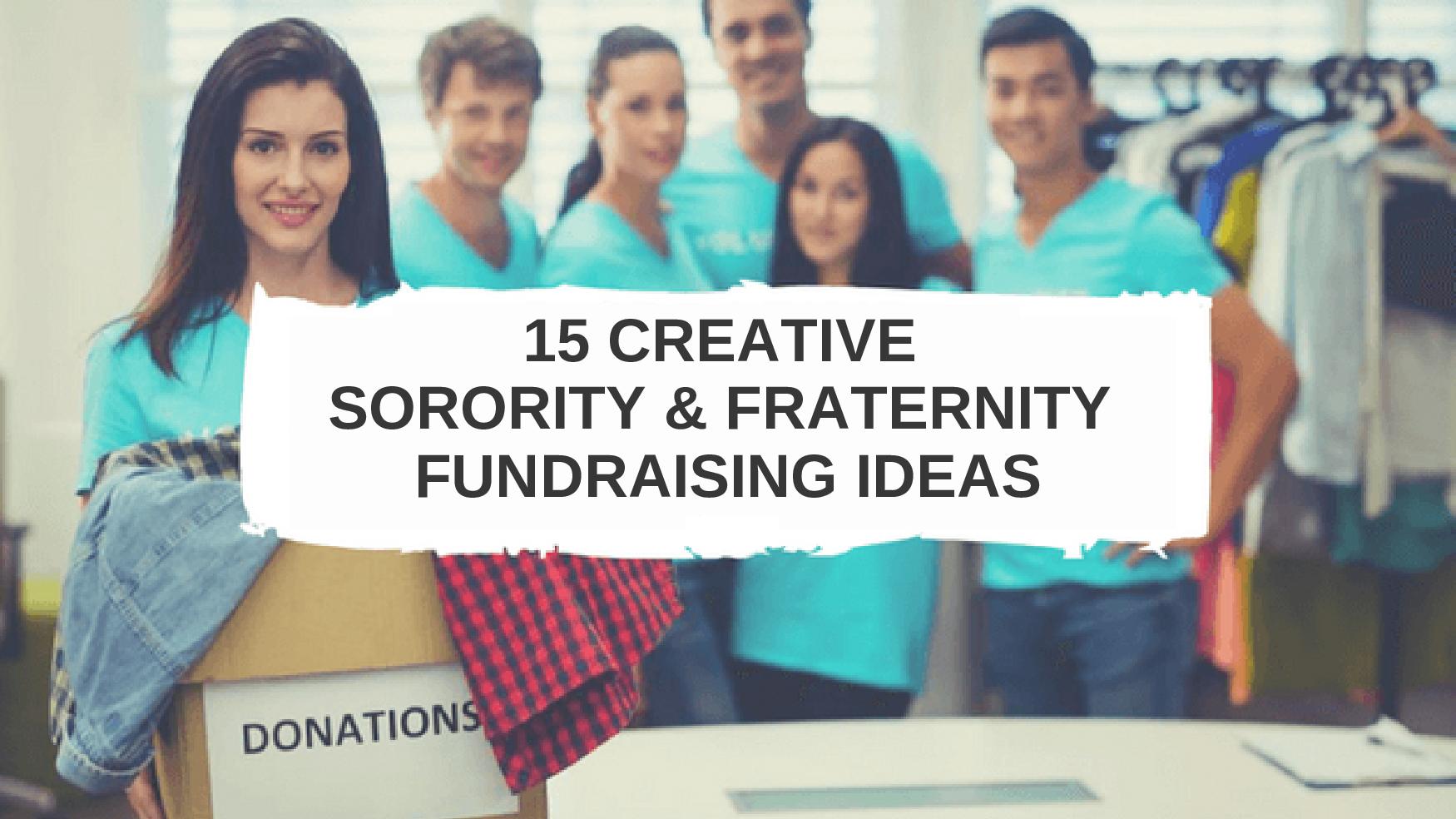 Fraternity Fundraising Ideas