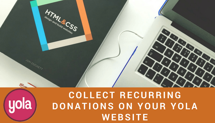 DONATIONS ON YOUR YOLA WEBSITE