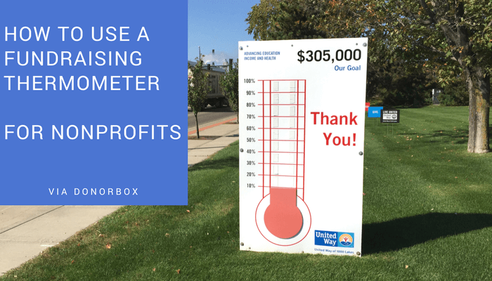 how to use fundraising thermometer for nonprofits  u0026 charities