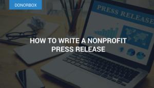 non profit press release