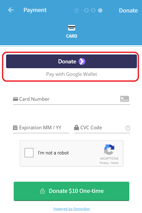Collect Donations with Google Pay on Android & Chrome