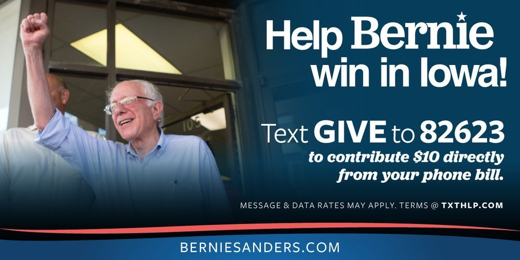 text to give - political fundraising ideas