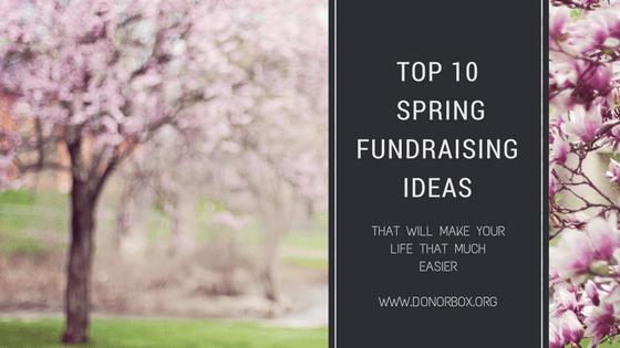 spring fundraiser ideas
