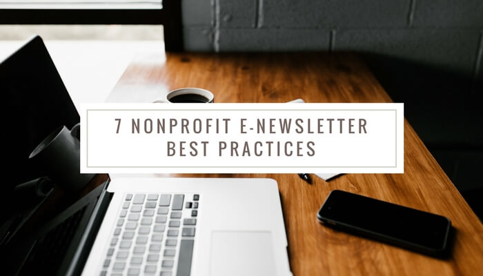Nonprofit newsletter best practices
