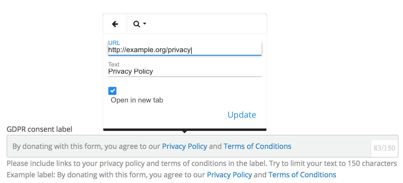 Create GDPR Compliant Donation Forms