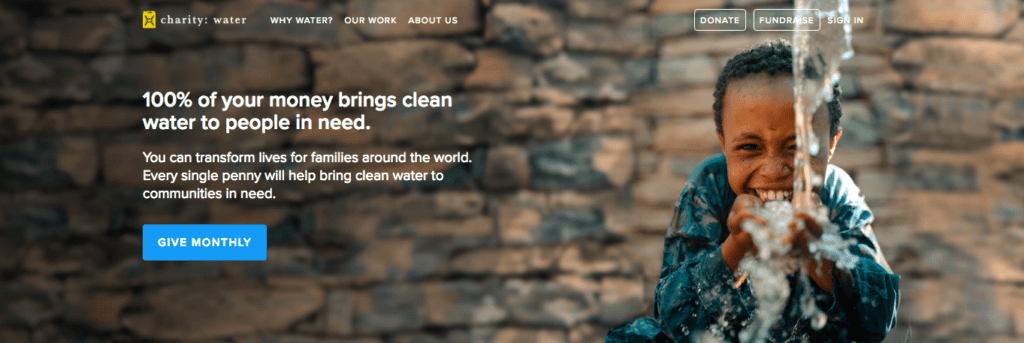 Charity water - storytelling for nonprofits