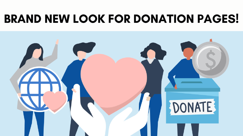 new look for donation pages