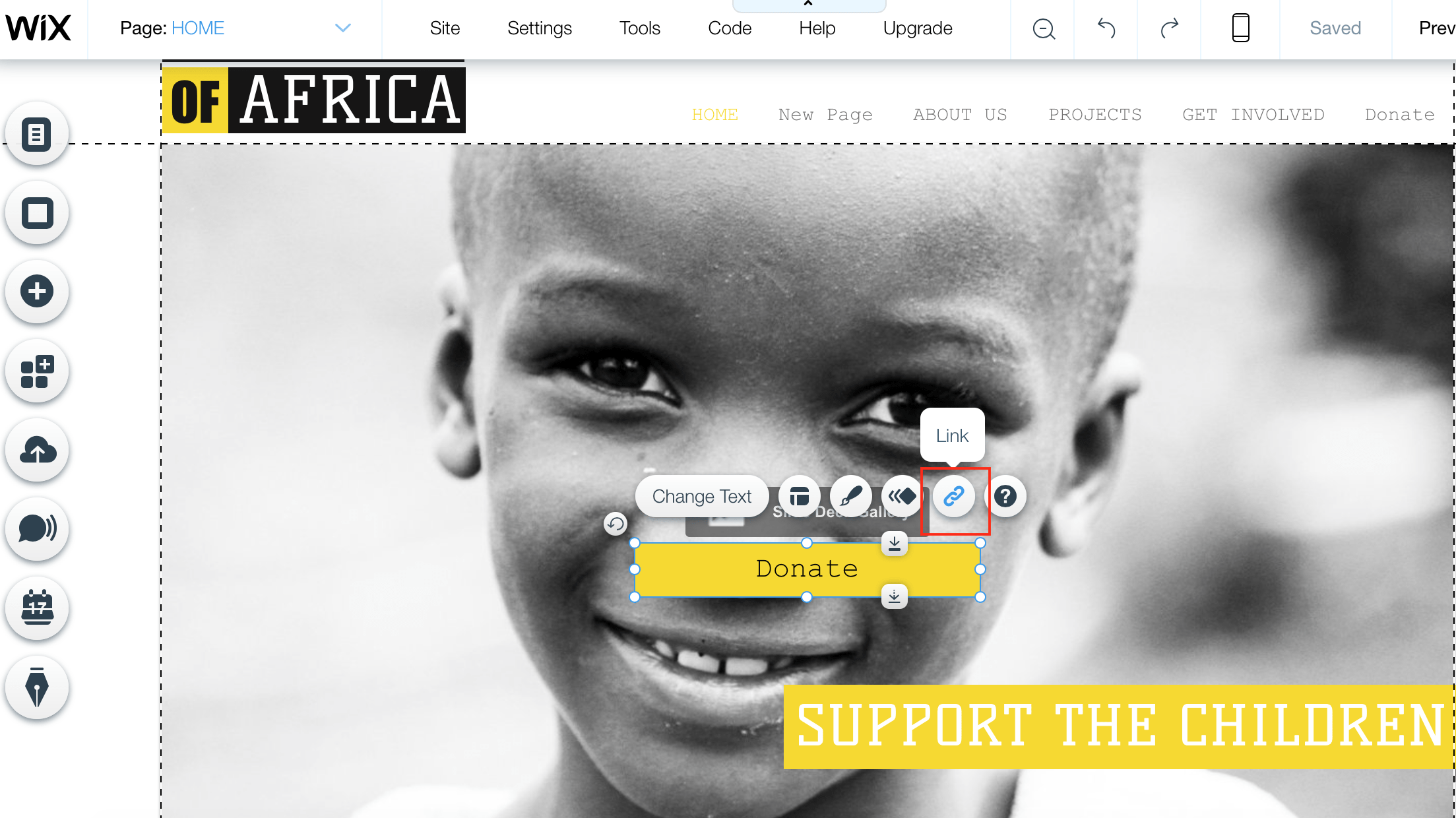 donation form on wix
