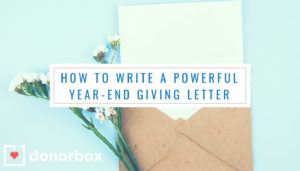 year end giving letter