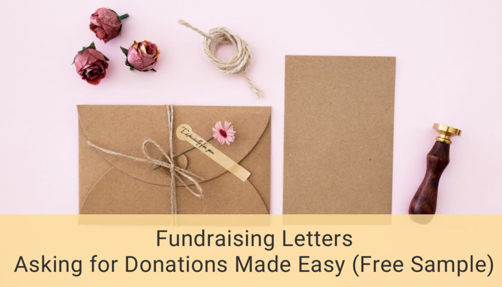 Fundraising Letters Asking For Donations Made Easy Free