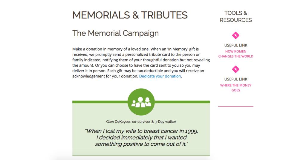 tribute fundraising