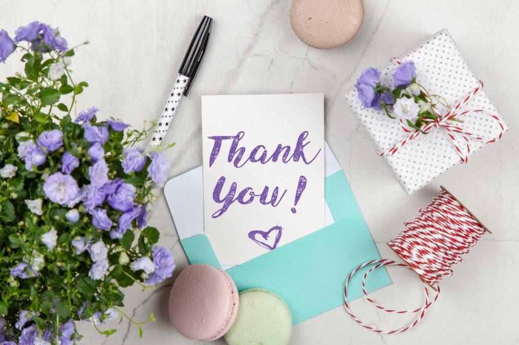 thanking volunteers