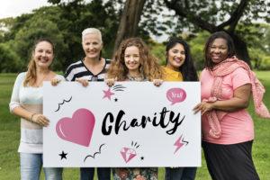 Catholic Donation Heart Graphic Concept