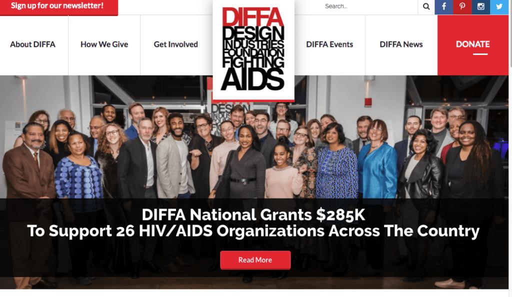 DIFFA donate site