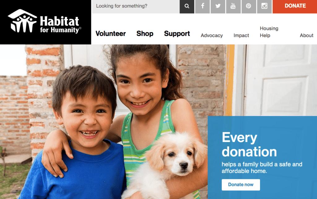 Habitat-4-Humanity donation sites