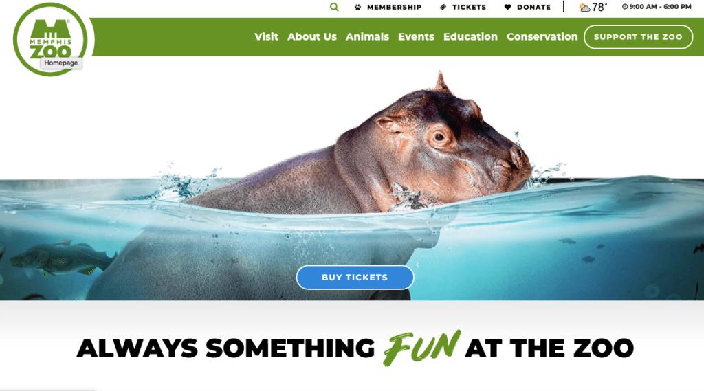 Memphis-Zoo donation website