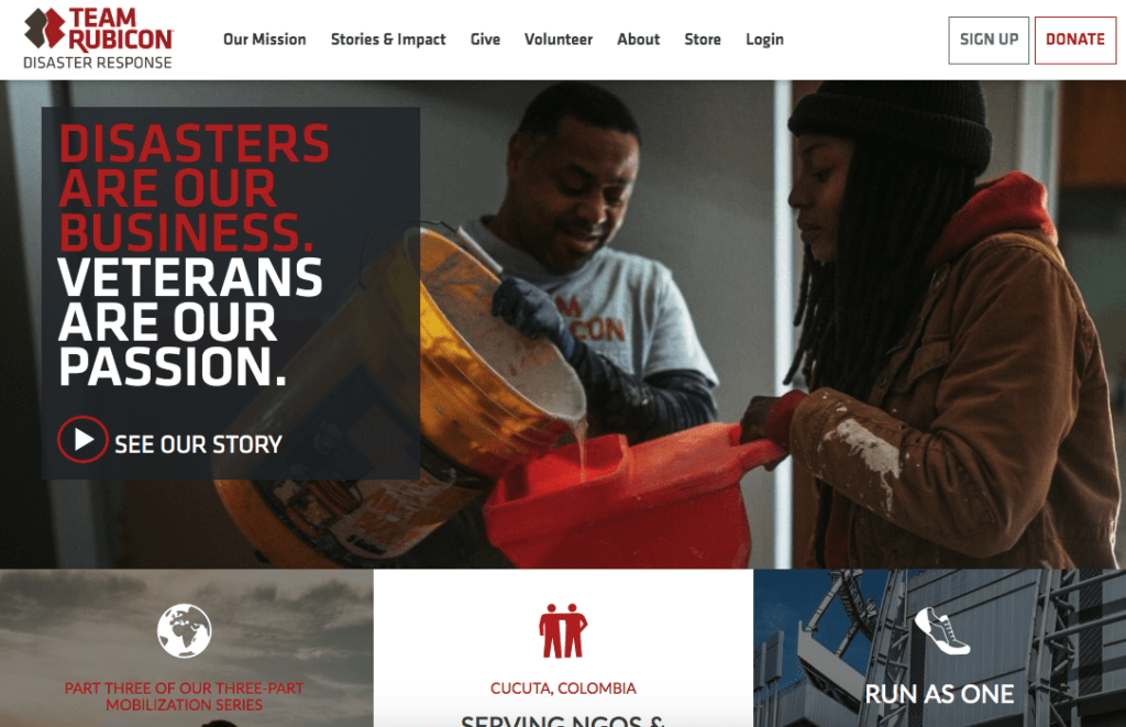 Team-Rubicon donation website