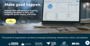 neon CRM - donation tool