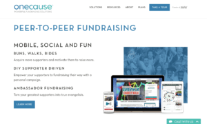 onecause - donation softwares
