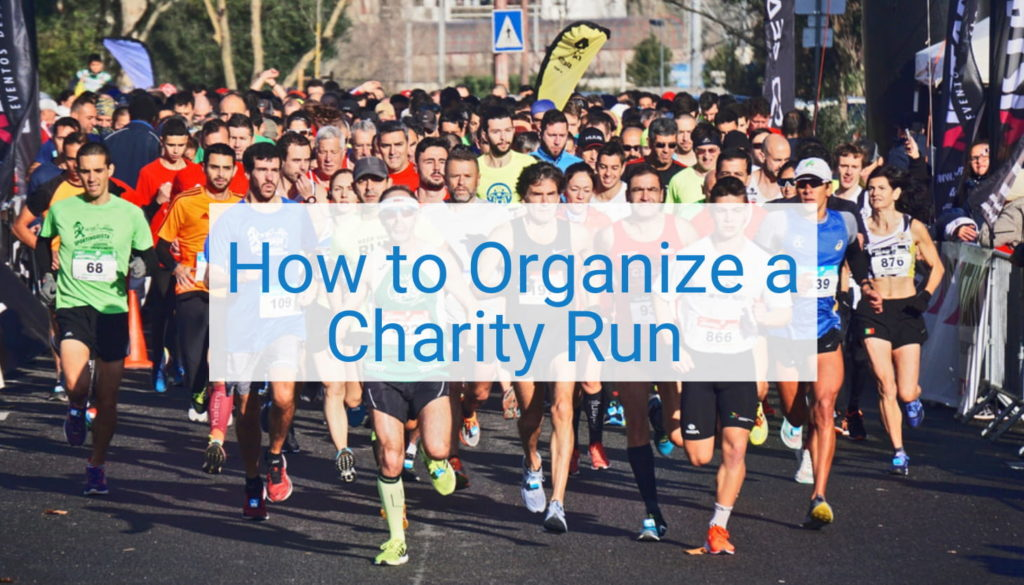 organize a charity run - title