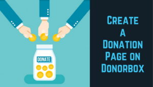 create a donation pages
