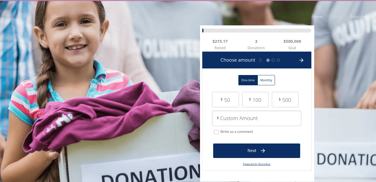 embed donorbox on wix