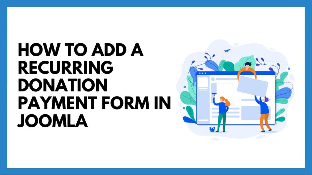 donation form in Joomla