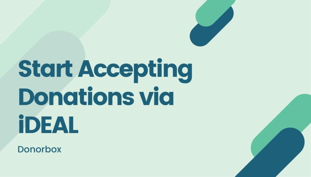 accept donations via iDEAL