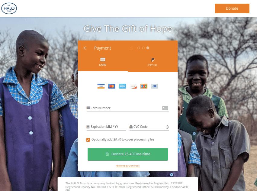 wordpress donation form