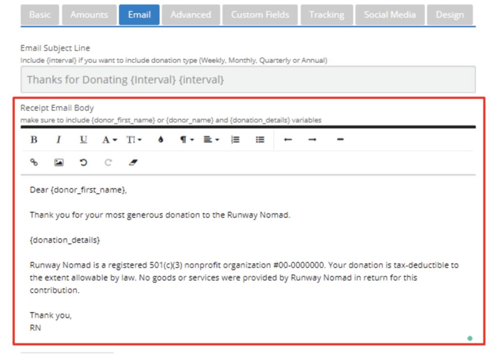 donation form best practices