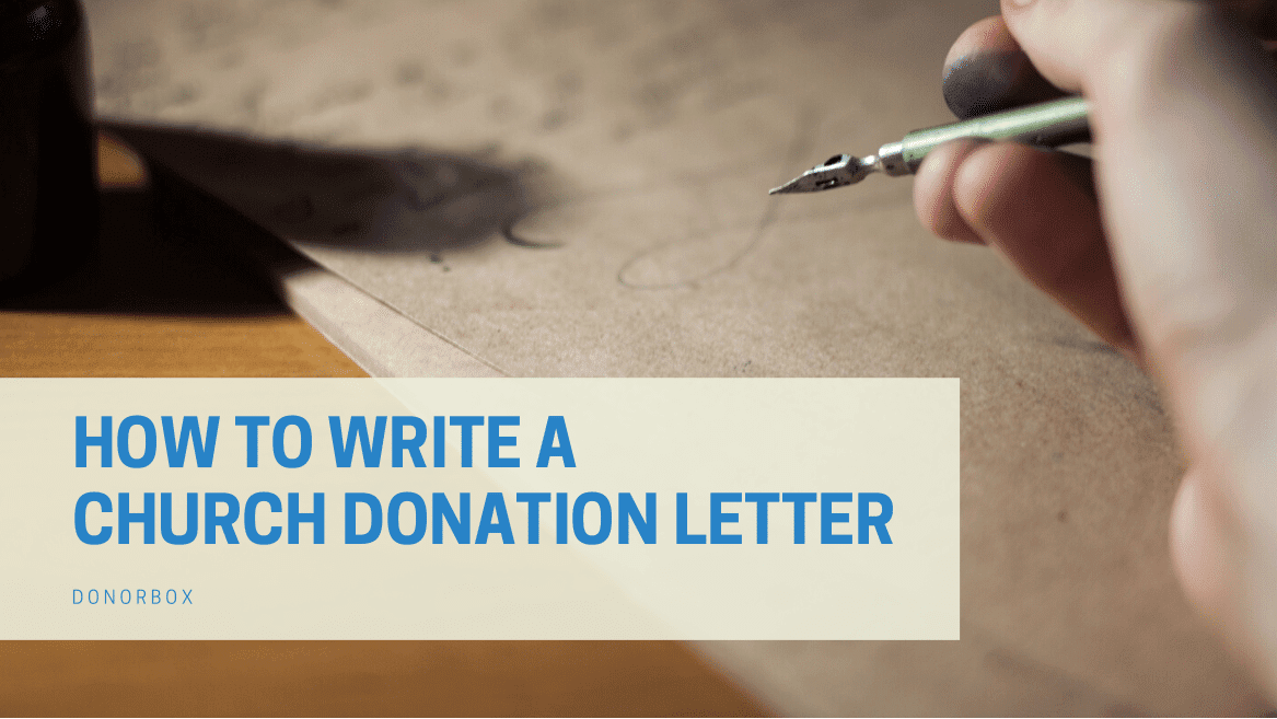church donation letter