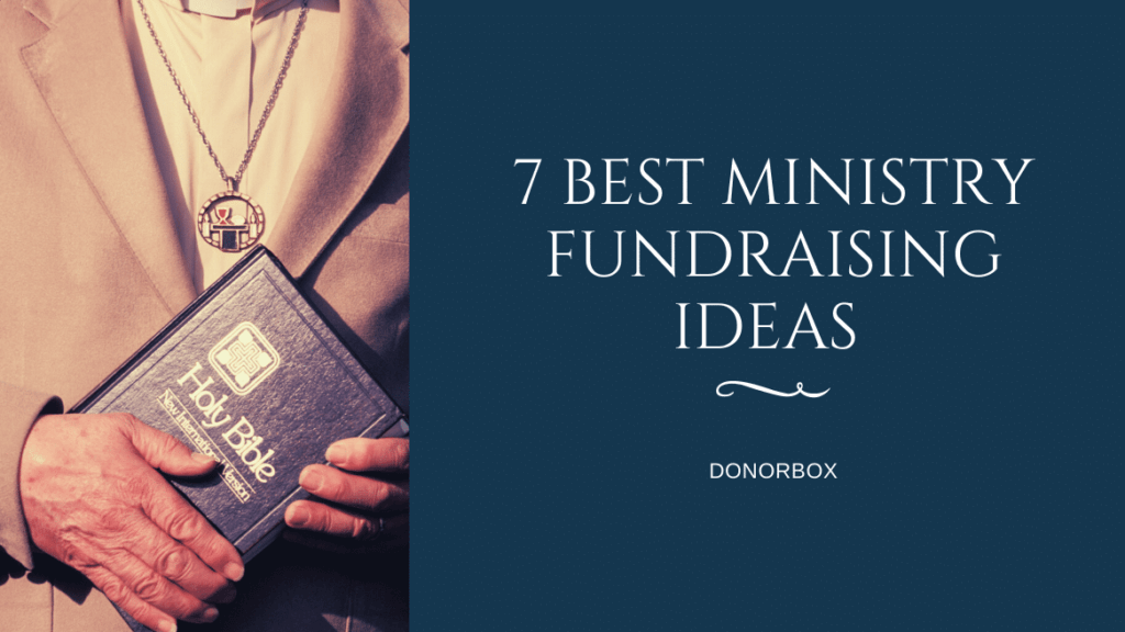 ministry fundraising ideas