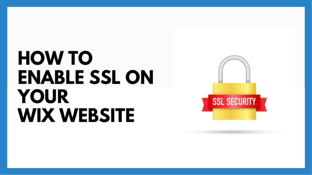 ssl on wix website