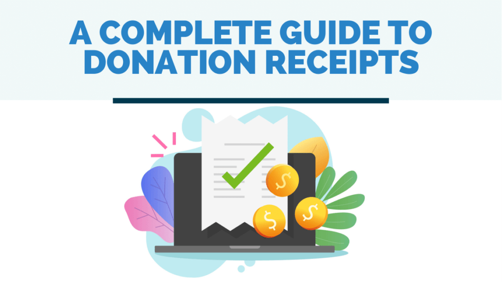donation receipt guide