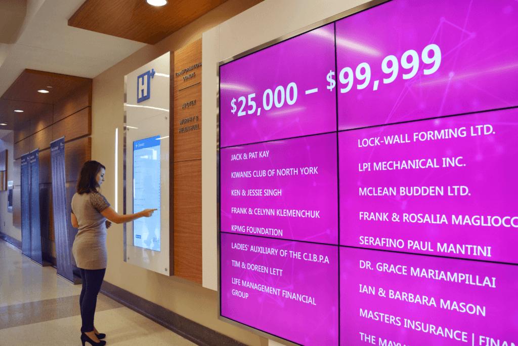 virtual donor wall