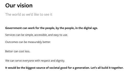 nonprofit vision statement examples