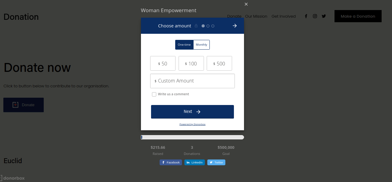 donation forms on squarespace
