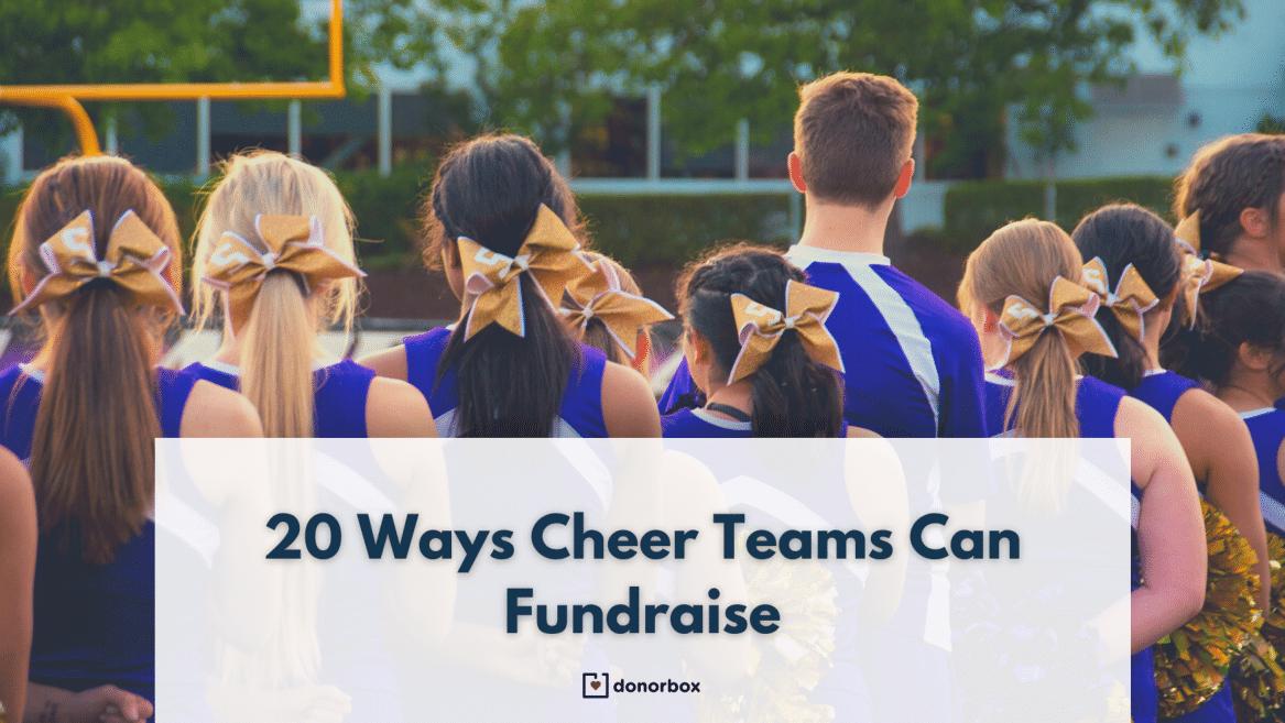 20 Unique Cheerleading Fundraising Ideas