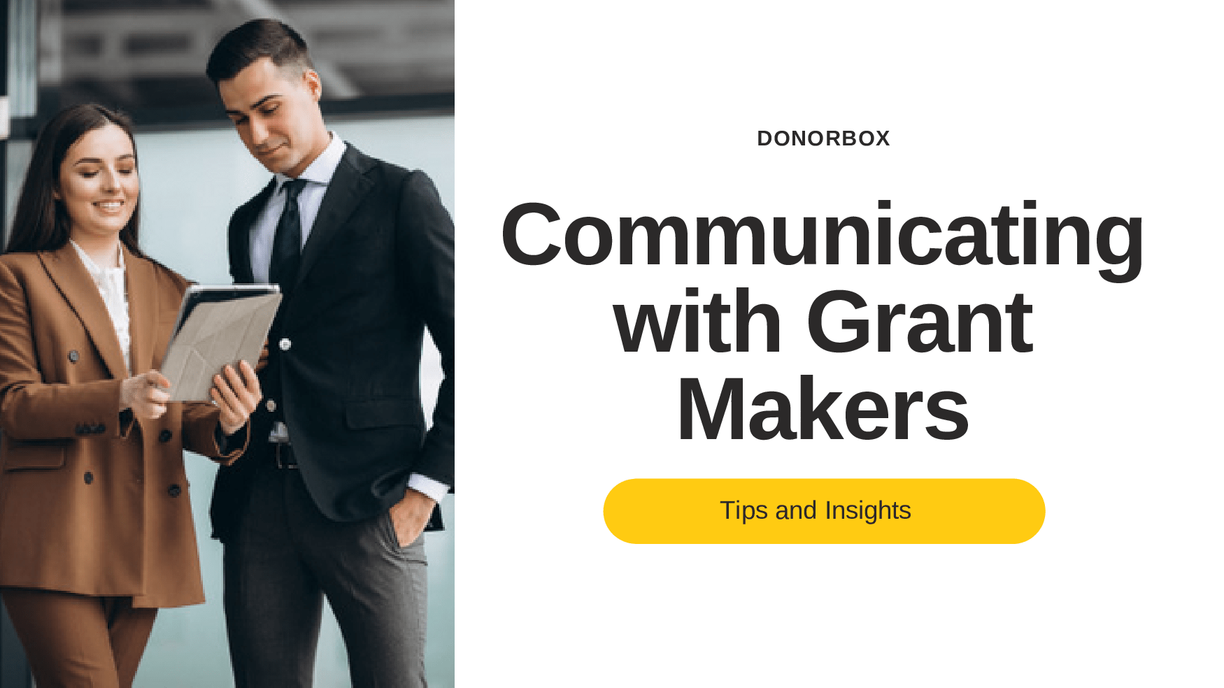 communicating with grant makers
